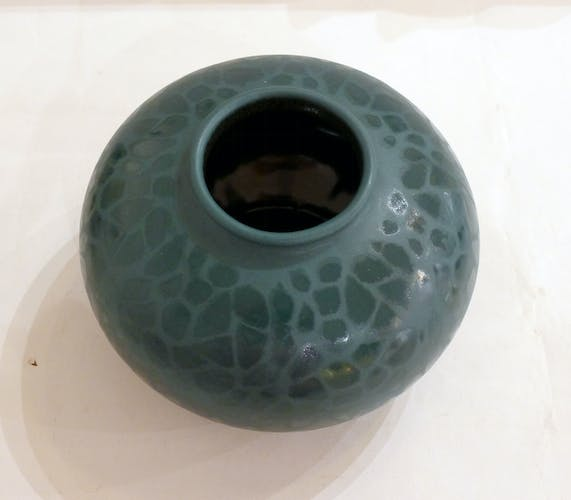 Vase vert mat par Bay Keramik West Germany 1950'-1960'