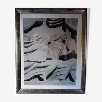 Black-white photo frame - professional silver frame with glass with pass everywhere