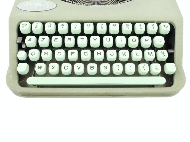 Hermes Baby green lime typewritter revised new ribbon
