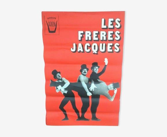 Affiche les freres jacques 1975 disques arion patrice tourenne