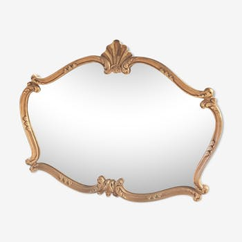 Miroir doré ancien - 85x64cm