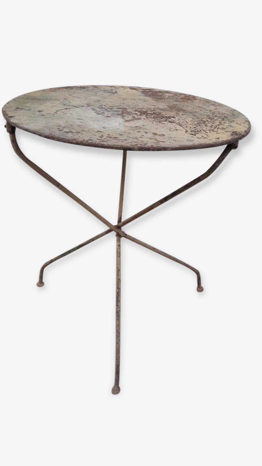 Table pliable gueridon jerdin bistrot ep 1900