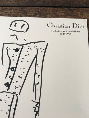 Fashion esquisse and press photography - Christian Dior collection 1984- 1985