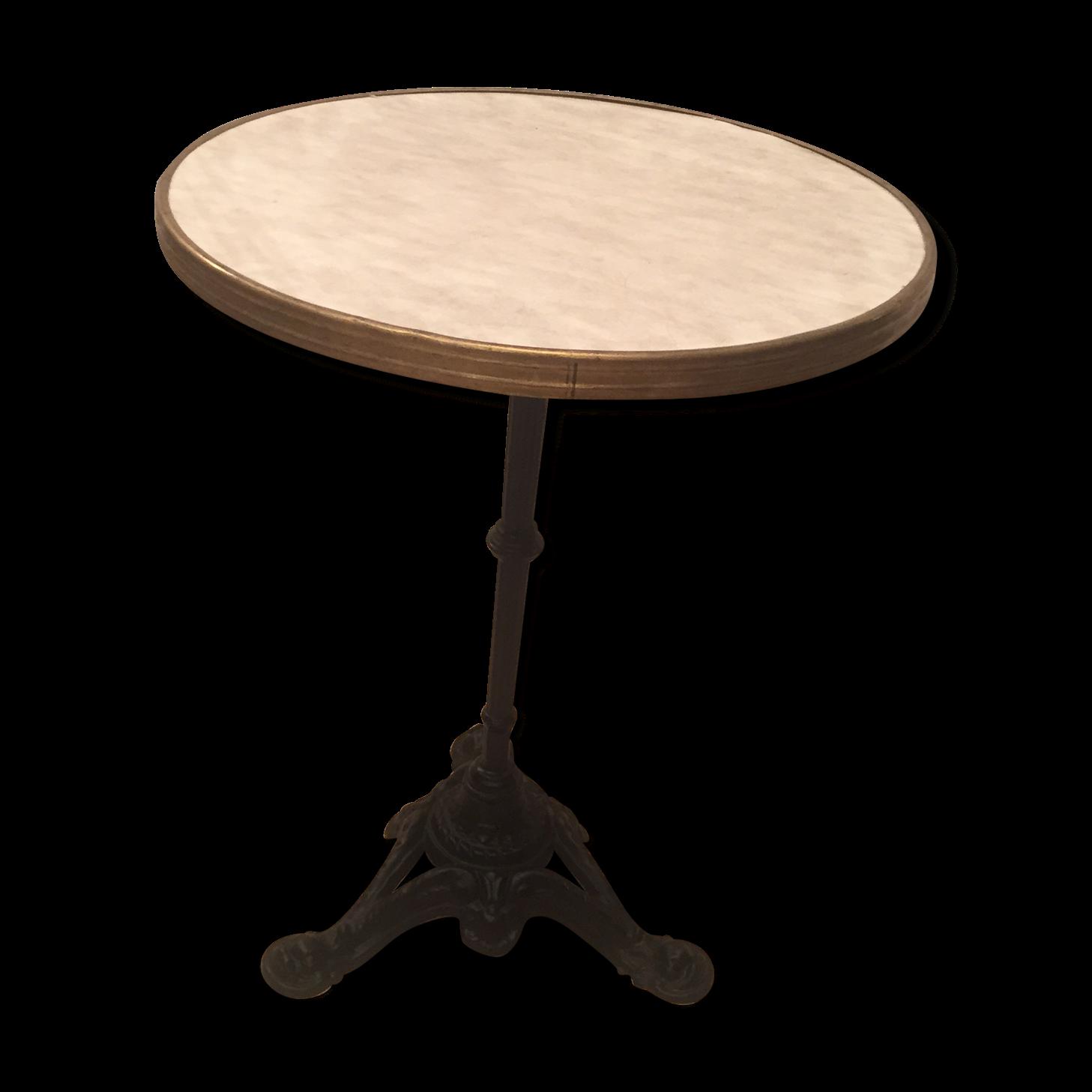 perfect best ancien guridon de bistrot pied en fonte cerclage laiton with pied de table bistrot. Black Bedroom Furniture Sets. Home Design Ideas