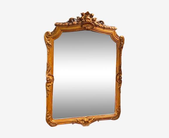 Miroir doré antique