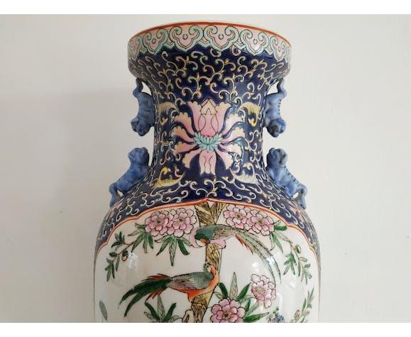 Vase chinois famille rose 19e siècle