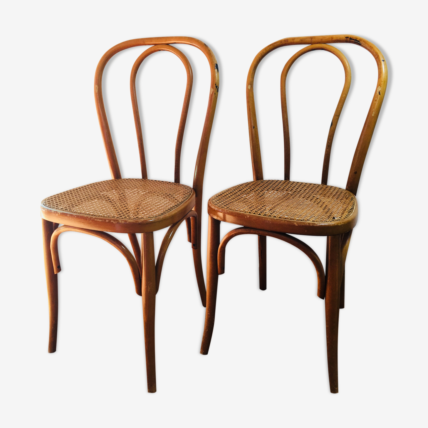 Set of 2 chairs bistro wooden