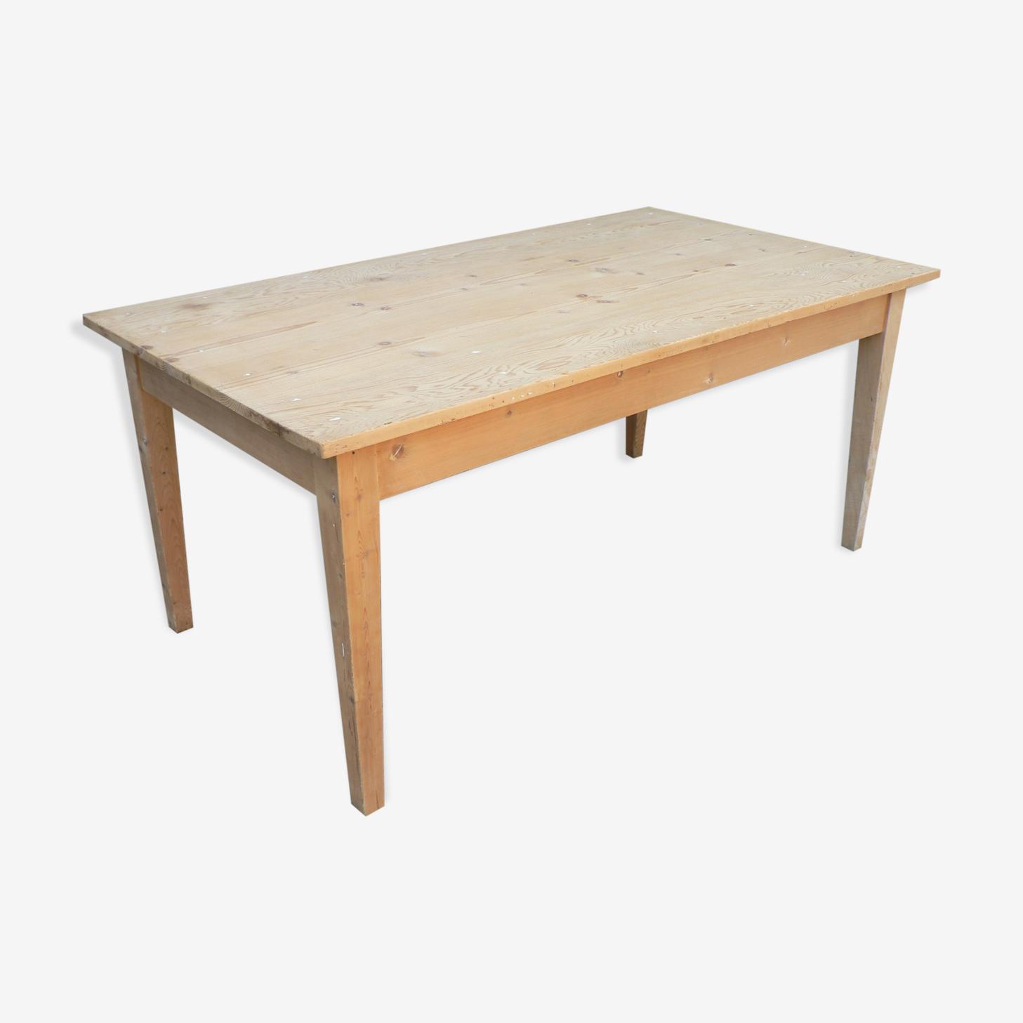 Table de ferme décapé 160cm