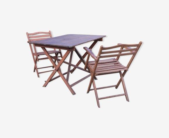 Table et deux fauteuils 1900