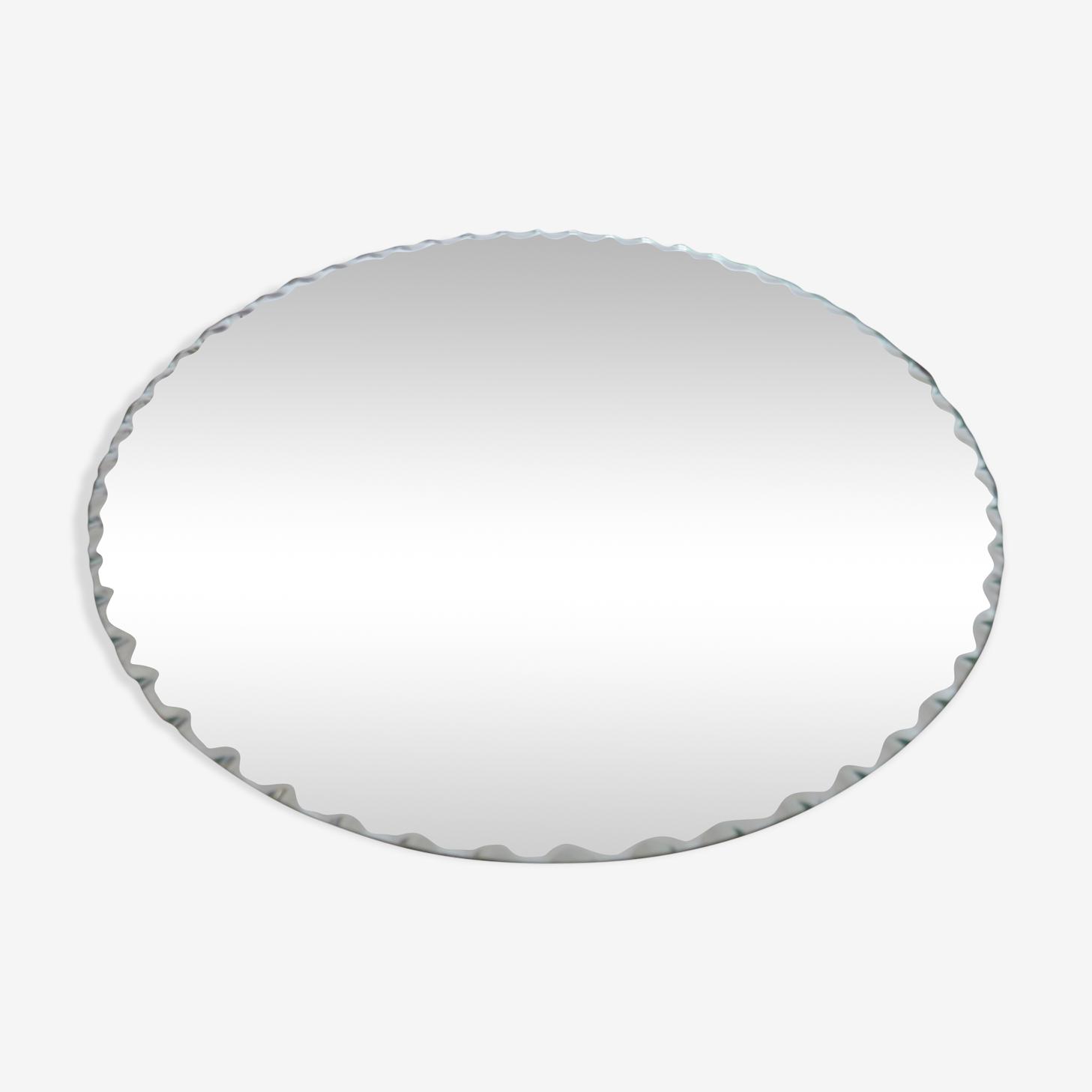 Beveled round mirror 50/60 - 27x27cm