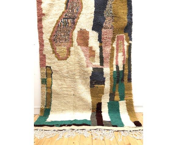 Moroccan berber carpet colorful azilal 3.15x1.58m