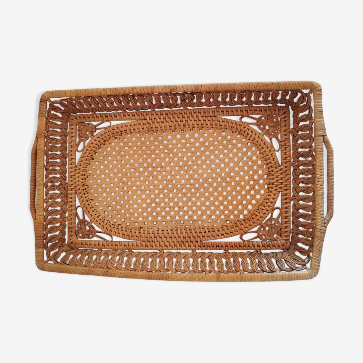 Old flat basket