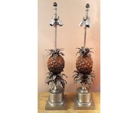 Paire de lampes ananas Maison Charles