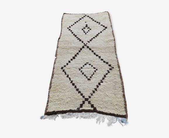 Tapis berbere beni ouarain  en laine fait main 210x110 cm