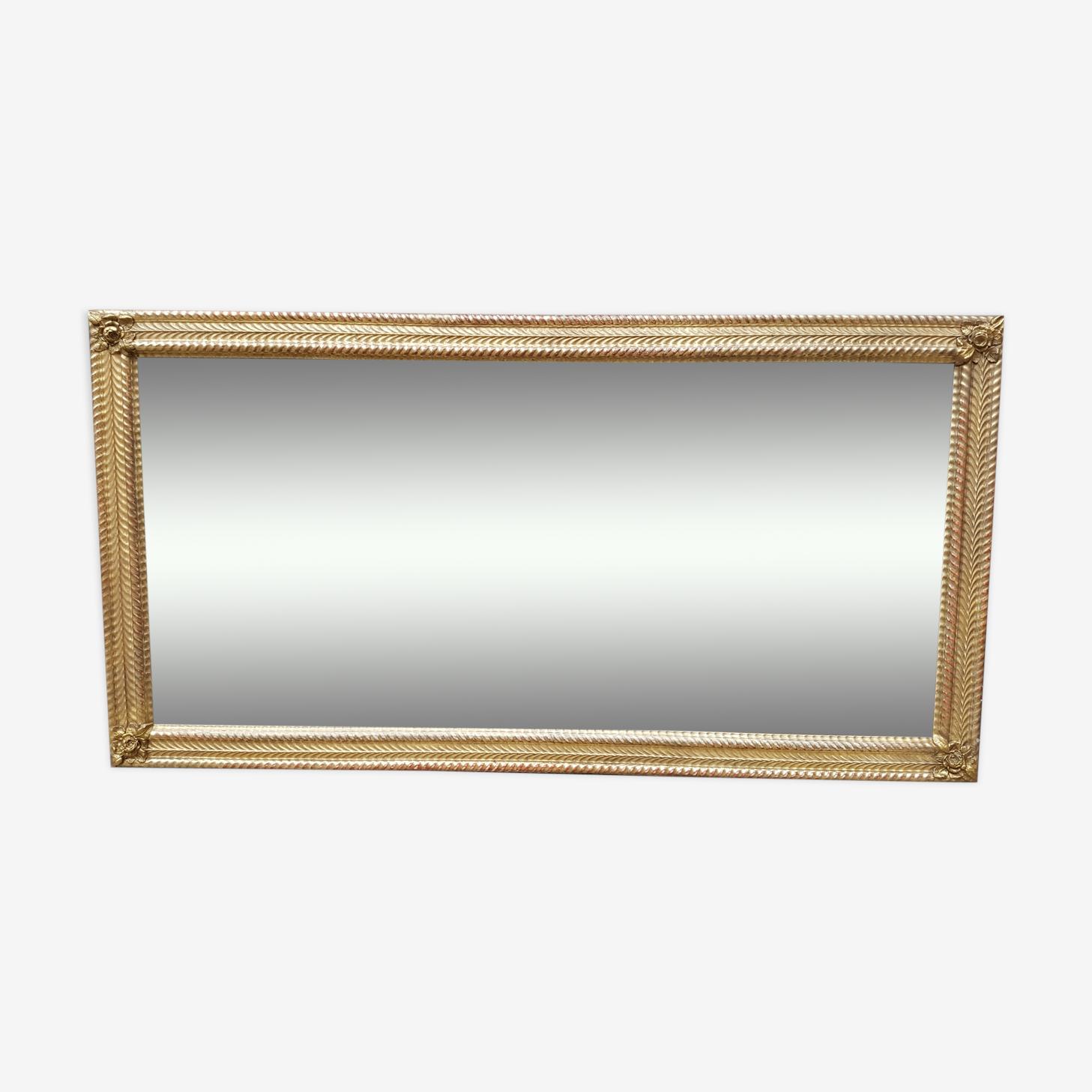 Miroir doré XIXème Napoléon III 150x78cm
