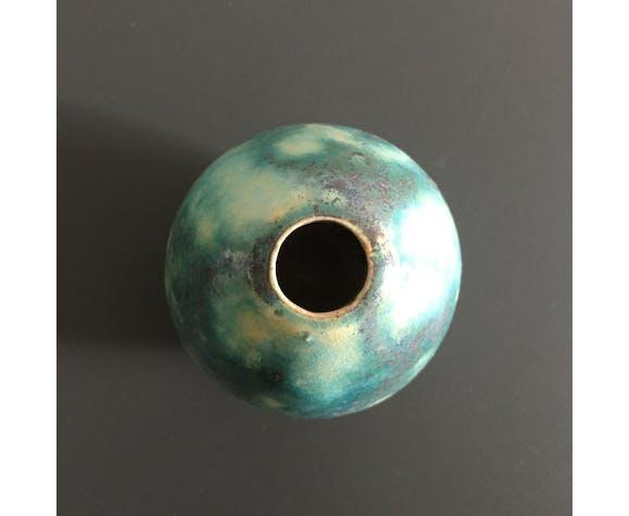 Vase soliflore flammé vert