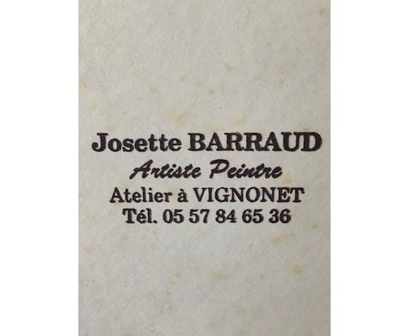 Tableau Josette Barraud