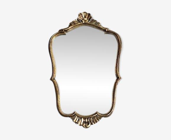 Miroir style baroque doré 45x24cm