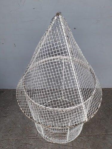 Cage à oiseaux metal epoque années 1950/60