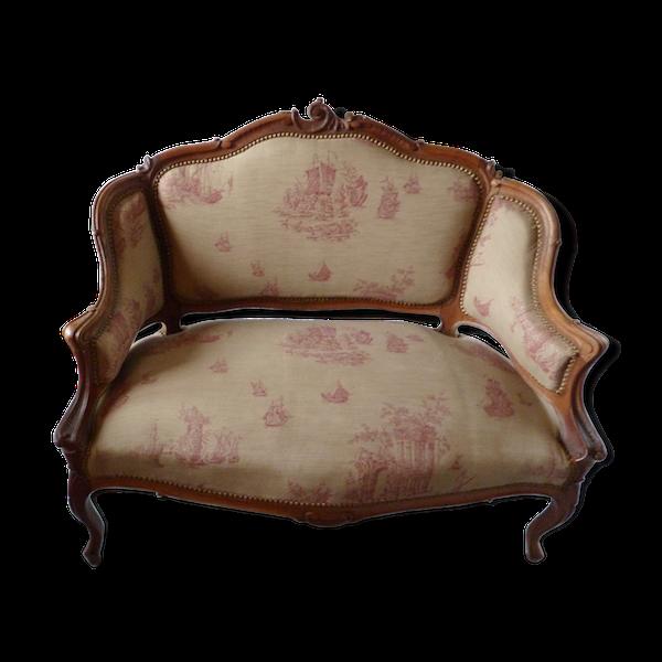 Canapé et chaise Louis XV