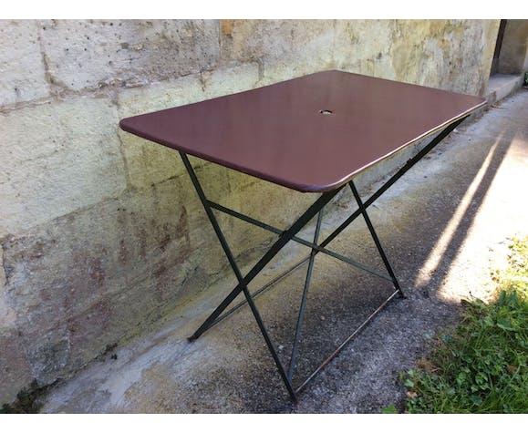 Table de jardin pliante en métal