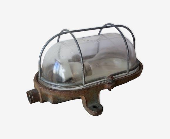 Lampe applique industrielle Mapelec en fonte - fonte - gris ...