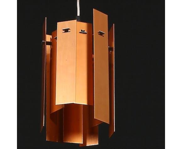 Suspension scandinave cuivre d'Henninf Rehhof, pour Fog and Morup Danemark 1960