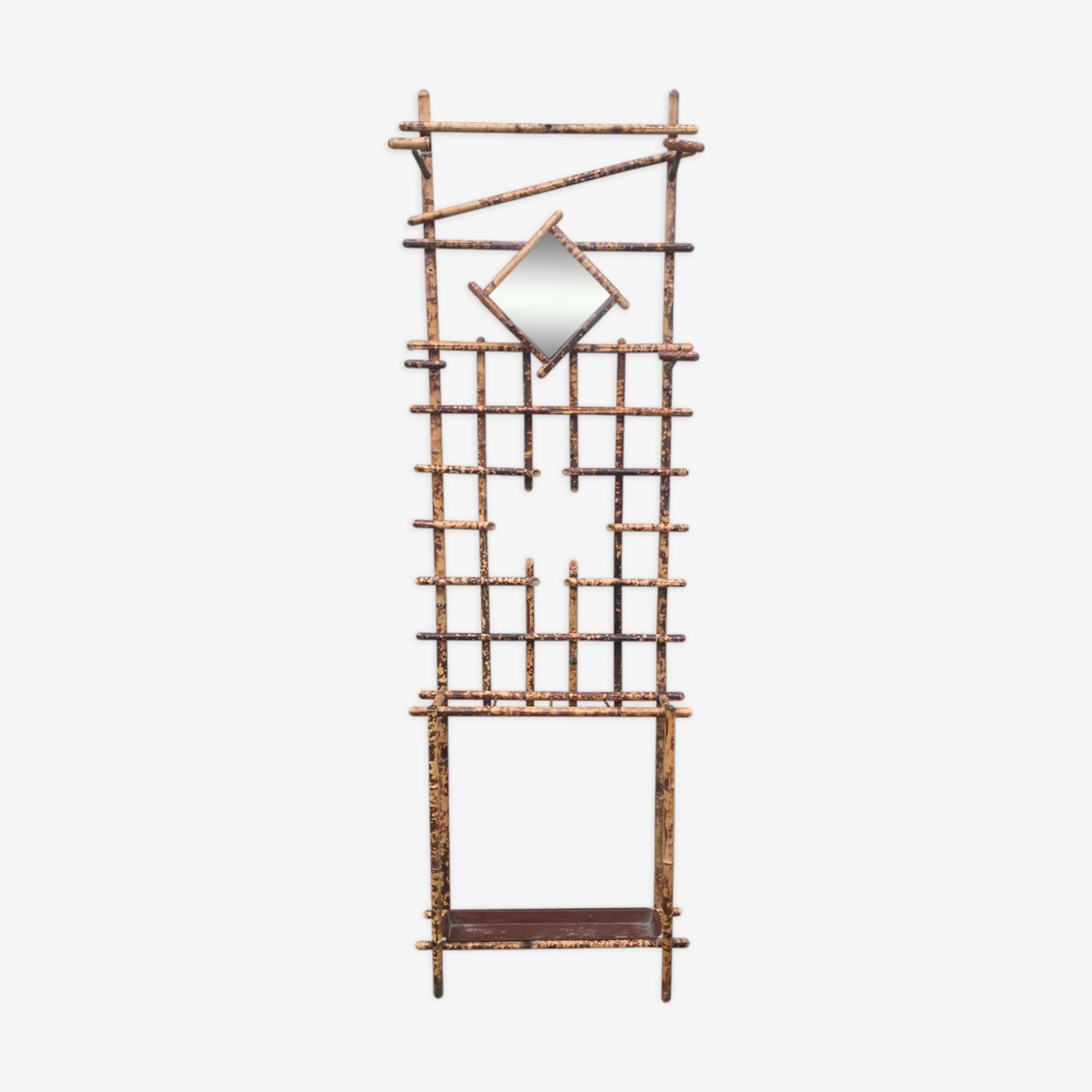 Porte-manteau mural en bambou