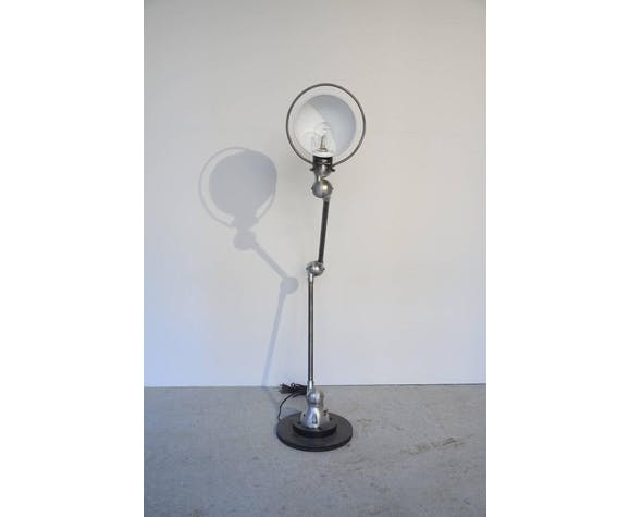 Pair of lampposts Jieldé french by Domecq three arms around 1950