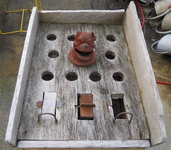 Old village party game barrel game