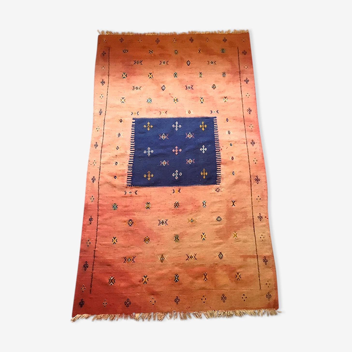Hand-woven Berber kilim carpet 120 x 210cm