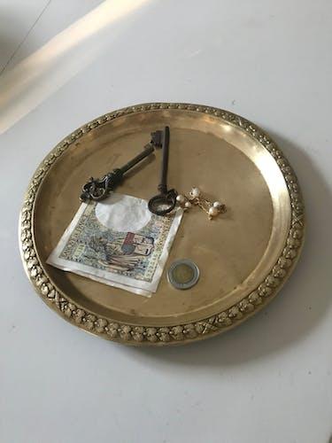 Vide-poches en laiton, XIXeme