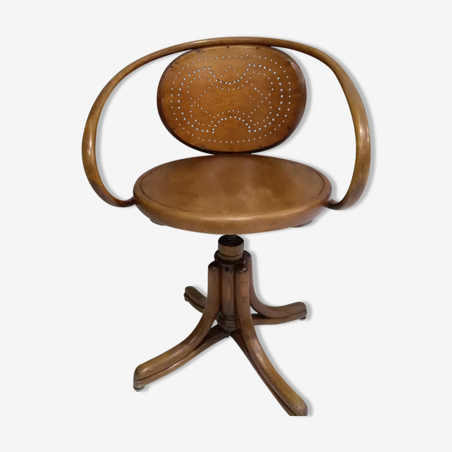 Swivel office armchair from Thonet old edition