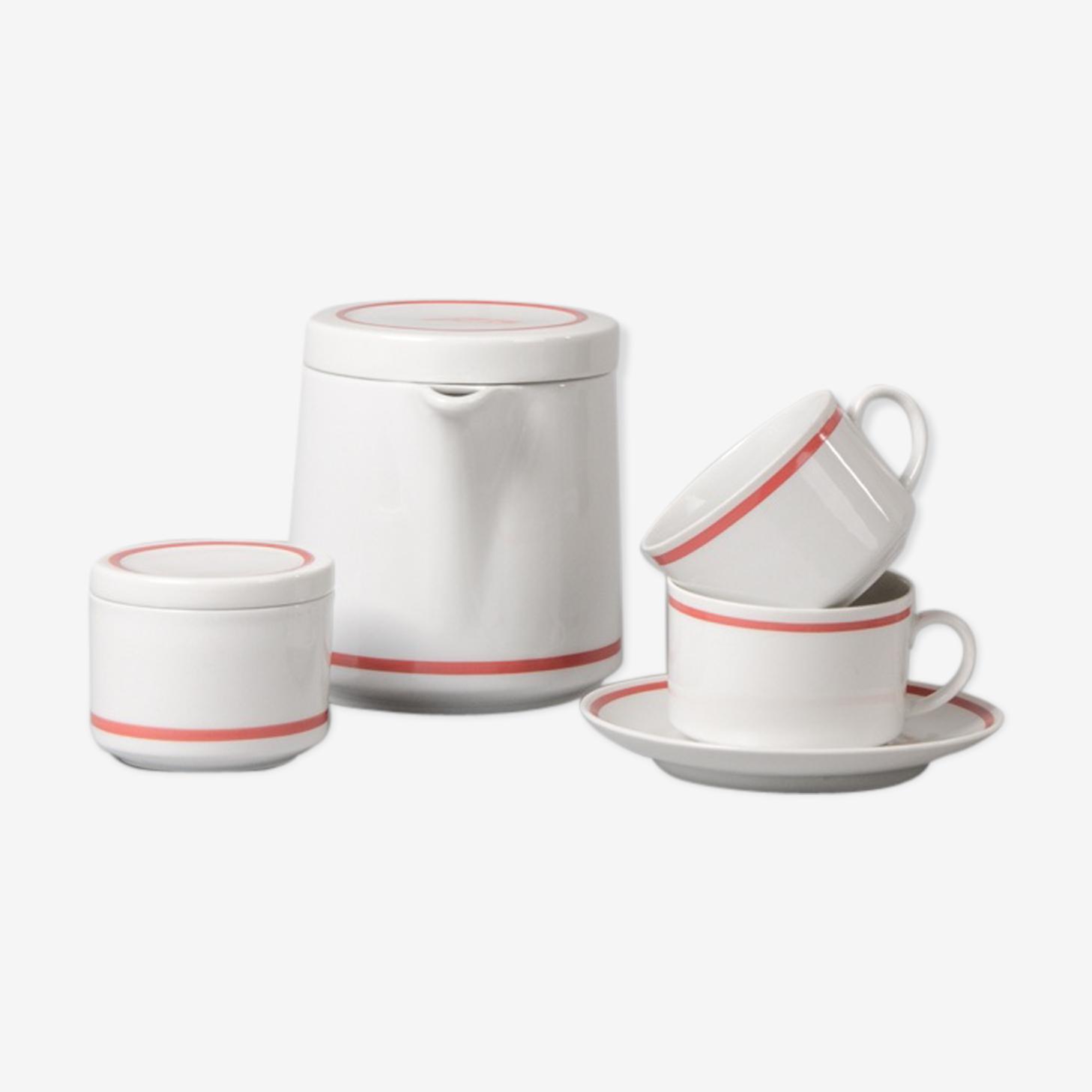 German coffee or tea set from seltmann weider, 1970s, set of 8