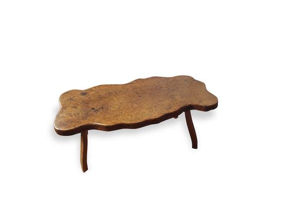 table basse tronc darbre annes 70 en bois massif - Table Basse Tronc D Arbre