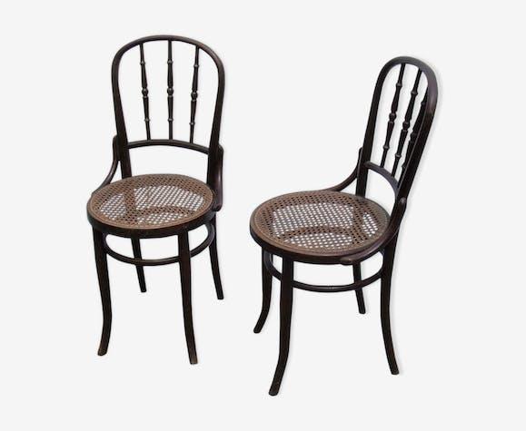 bar de cannée Fischel 1900 bois de Paire bistrot chaises 3JTclFK1