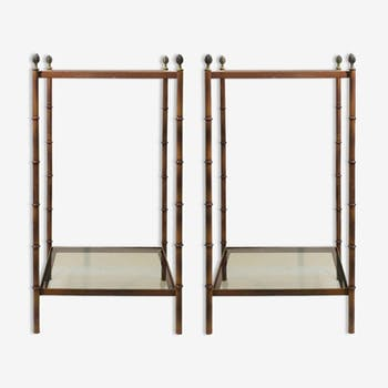 Pair of 2-level side tables