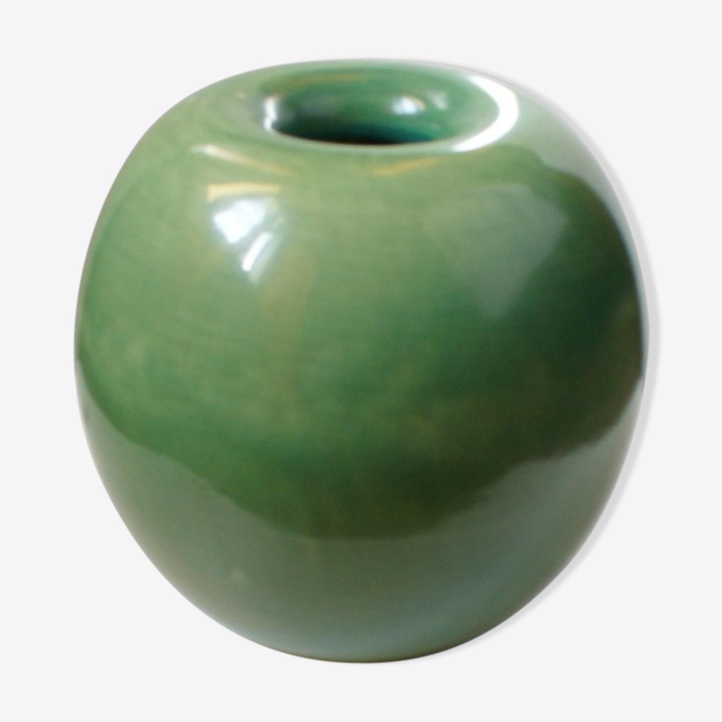 Green vase ceramic for Richard Ginori 1930 s