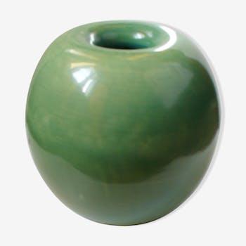 Vase vert en céramique pour Richard Ginori 1930s