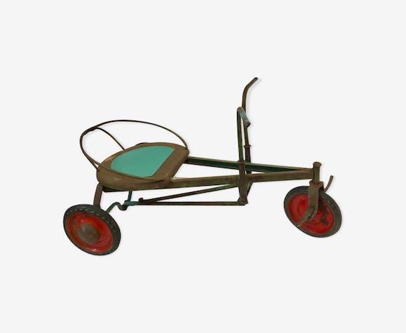 Tricycle rameur bambino en métal vintage