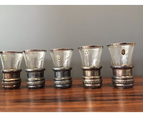 Set of 5 old glasses of the glassware dean