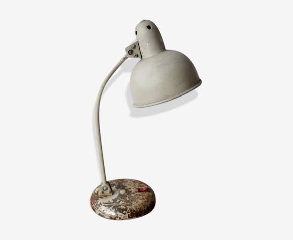 Lampe de bureau blanc métal blanc industriel znk0dzl