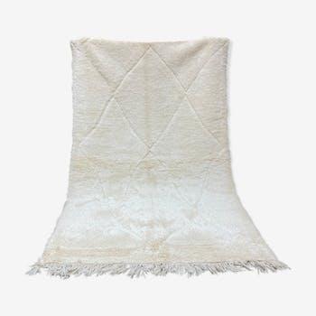 Beniouarain white wool carpet 160x260cm
