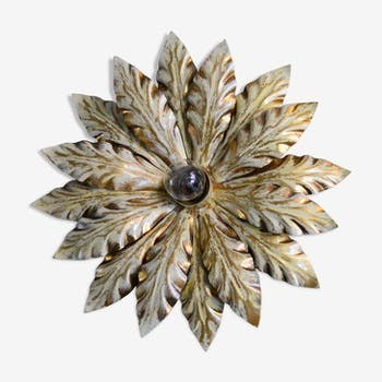 Applique fleur années 60 métal