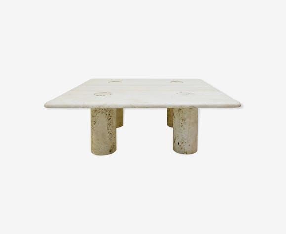 Table Basse en travertin par Angelo Mangiarotti
