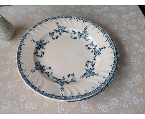 Assiettes Longwy Chantilly terre de fer