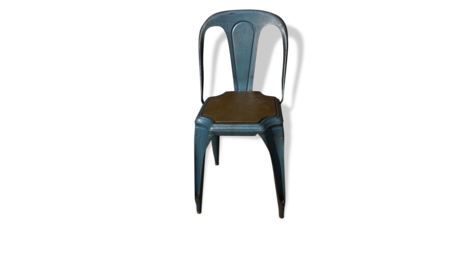Chaise Fibrocit En Métal - Fer - Bois (Couleur) - Industriel - 61946