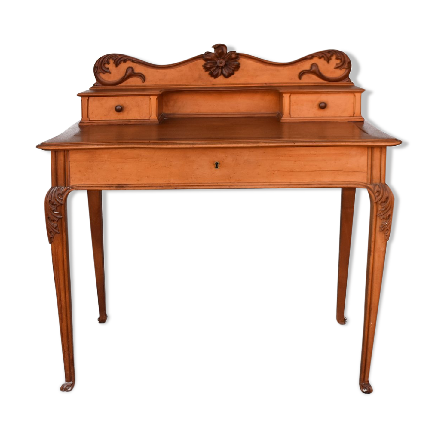 Bureau en acajou art nouveau bois matériau bois