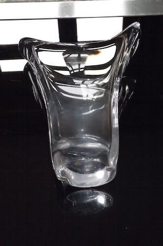 Vintage crystal Daum vase 1970