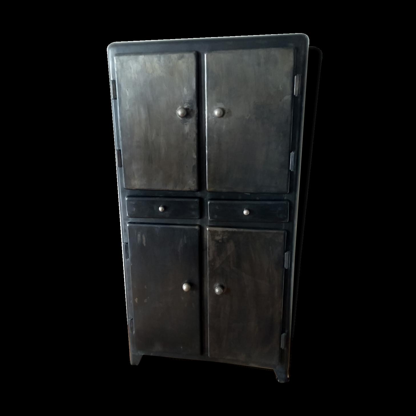 Meuble cuisine en metal perfect meuble de cuisine pas for Meuble metal cuisine